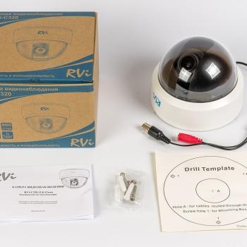 Купольная видеокамера RVi-C320 (2,8-12 мм)